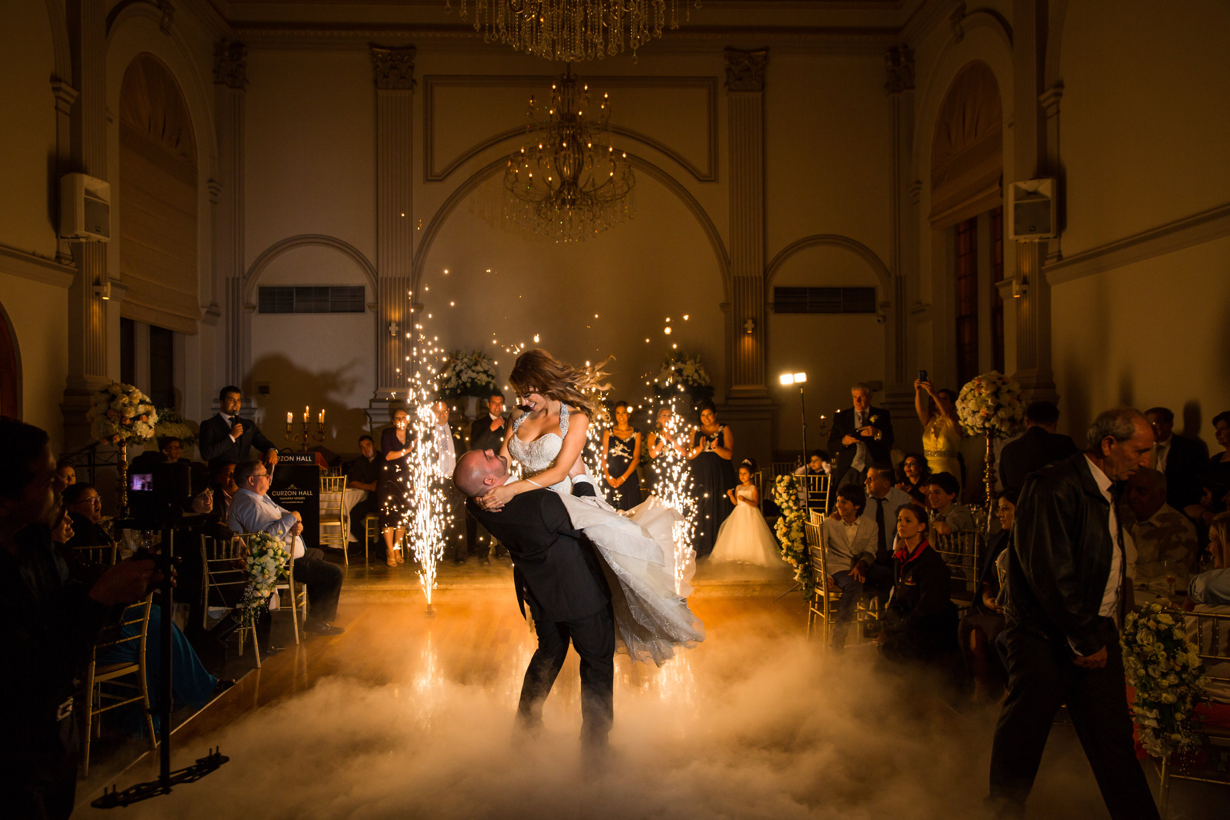 Wedding Grand Entrance with sparklers