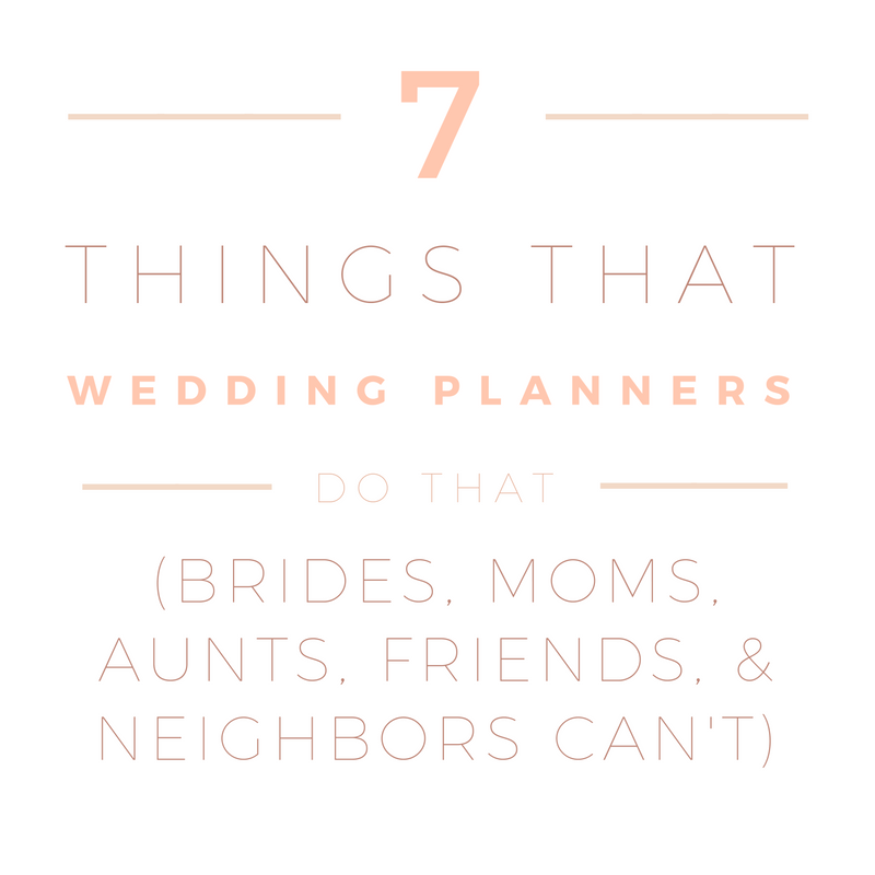 7 things wedding planners do that nobody else can