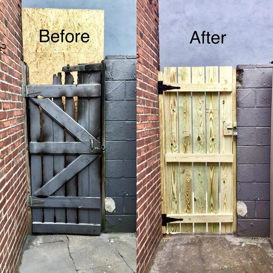 Gate Repair Before & After