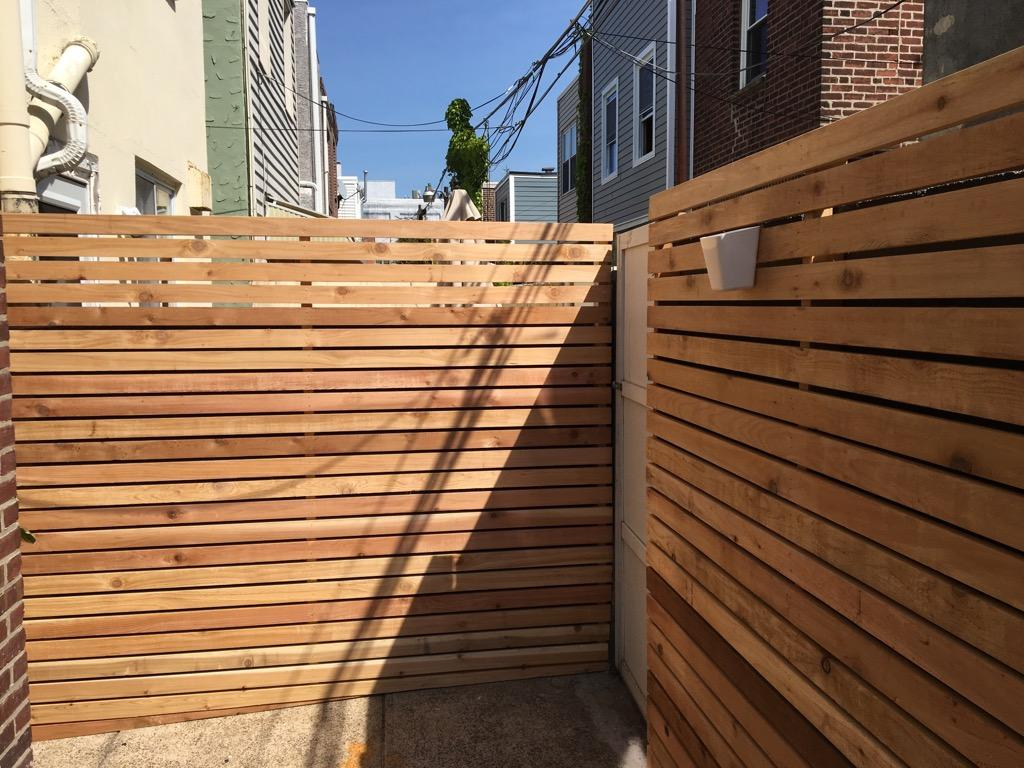 Privacy in the city is very important. Check out this stunning red cedar fence Bright Star Handyman recently completed in S. Philadelphia!