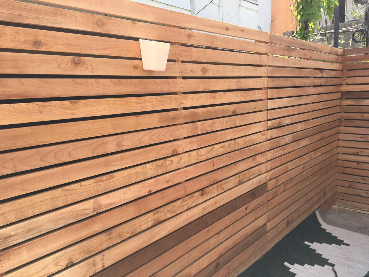Red Cedar Fence Addition | S. Philadelphia, Pennsylvania