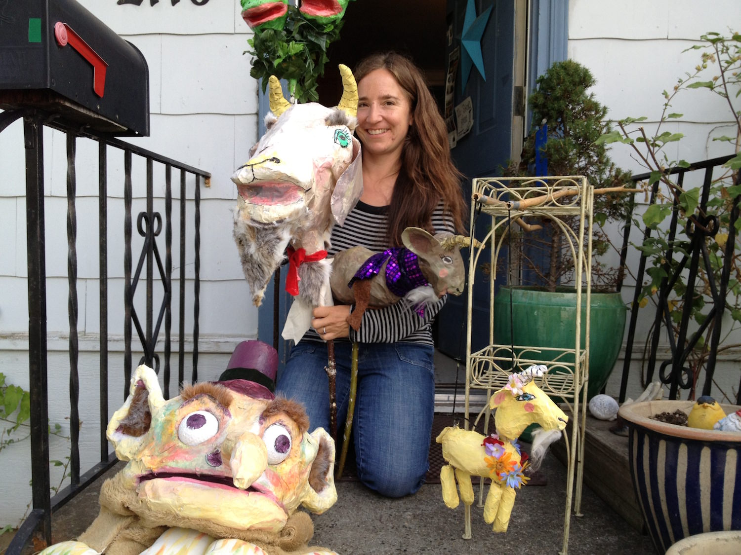 Christian Anne Smith Puppets  Firehouse The Three Billy Goats Gruff, Flora and The Troll 16.JPG