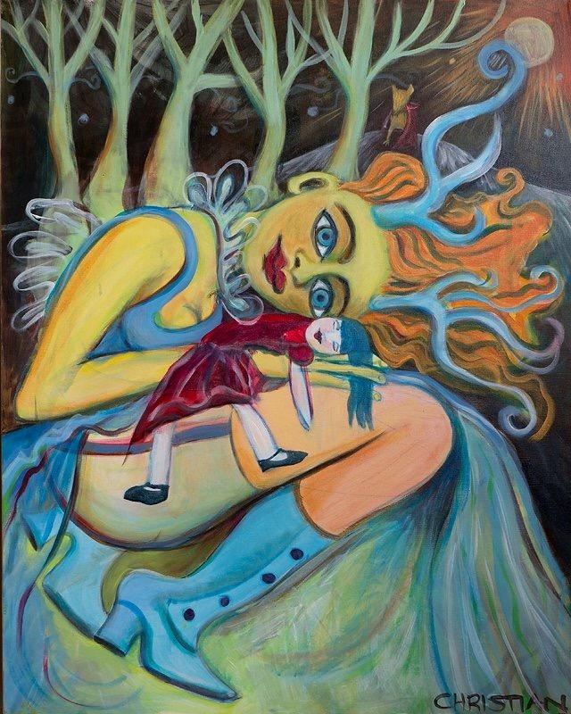 Ruskala's Blue Sister Under the Faerie Moon