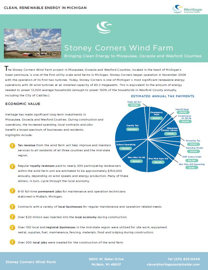Stoney Corner Wind Farm