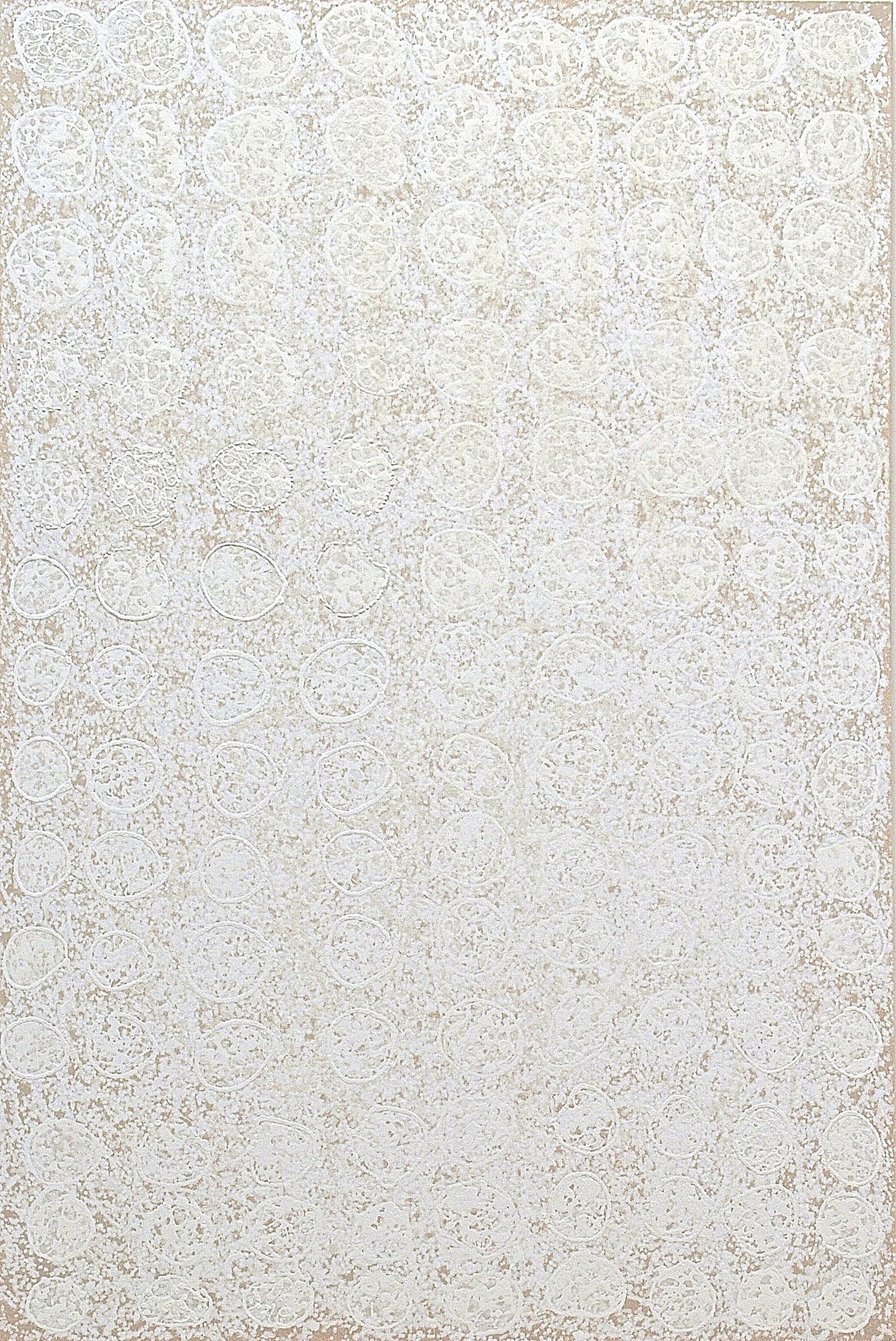 "Origin , casein, mineral, ash and plant pigment on canvas, 60""x40"", $4300"