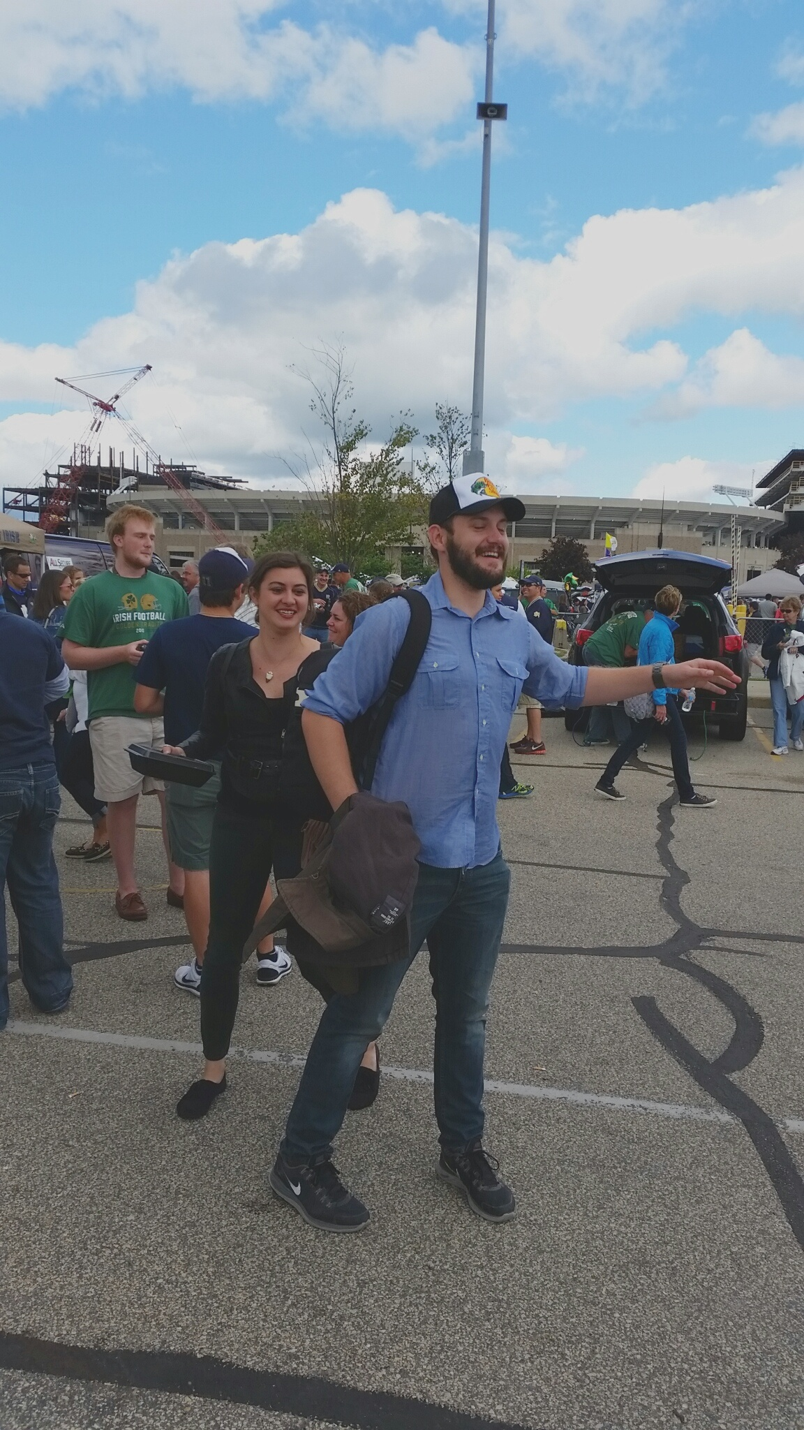 Jason's first time tailgating (at an ND game at that)