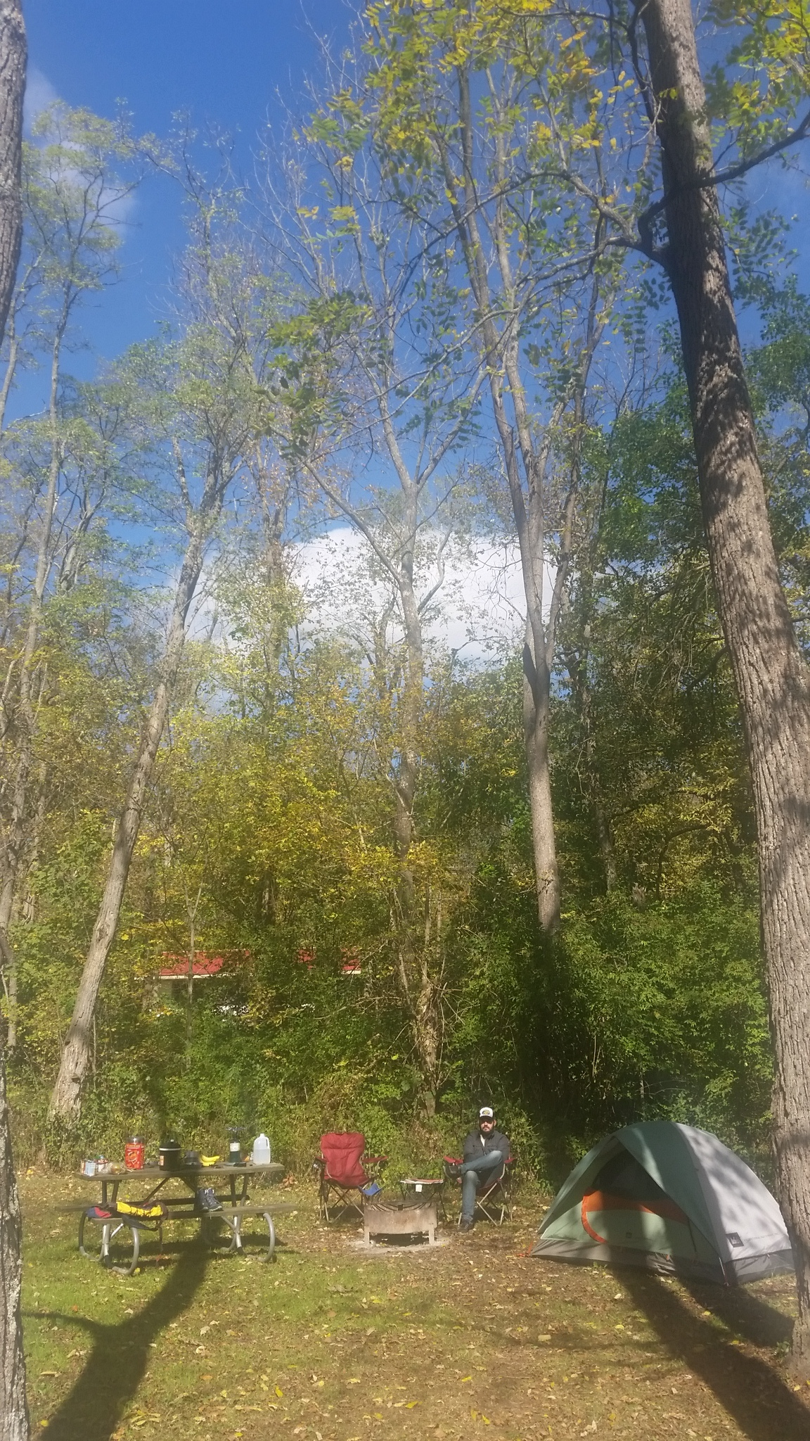 Our campground at Hueston Woods (10 minutes from Miami U)