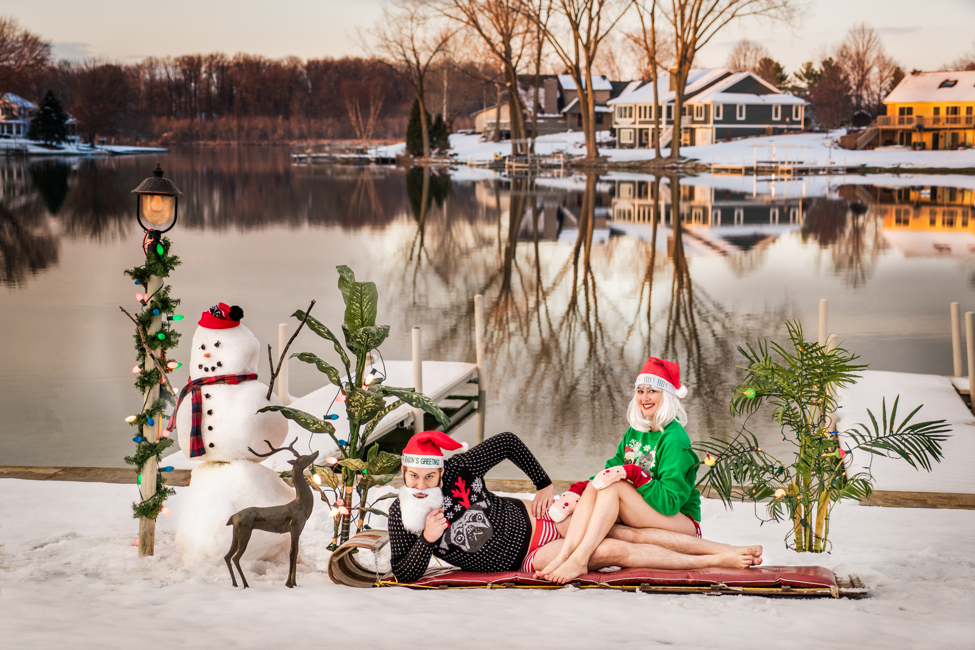 Shooting our Christmas Card: Part 2. (All of the props are staged/ scenery is not photoshopped)