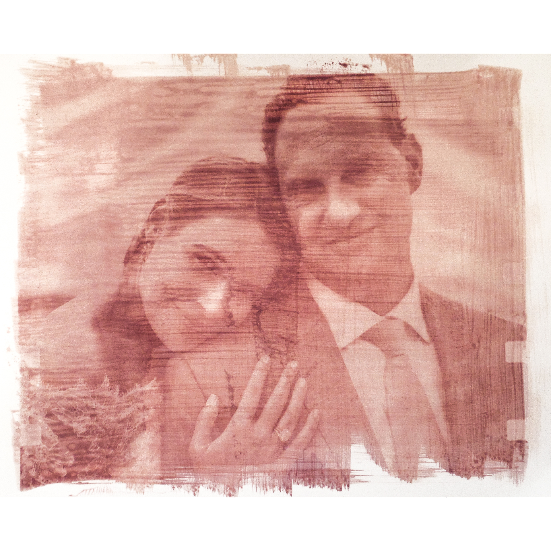 A special magenta toned contact print that we made by hand for the couple as a gift.