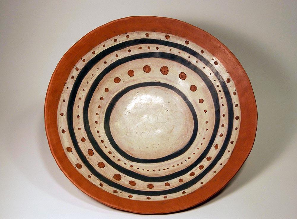 "Platter, Earthenware with Terra Sigillata,11.5"" diameter (2016)"