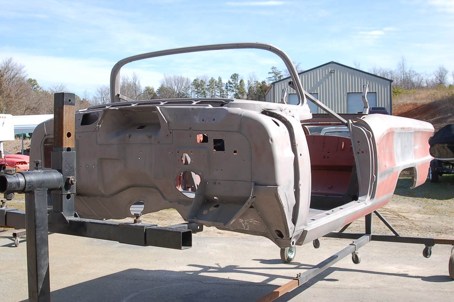 1958 Chieftain Arrives to paint.JPG