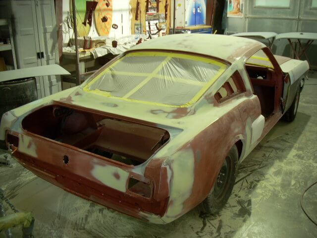 1965 Mustang Fastback body work.JPG