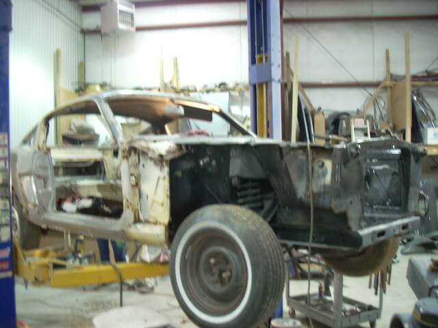 1965 Mustang Fastback disassembly.JPG