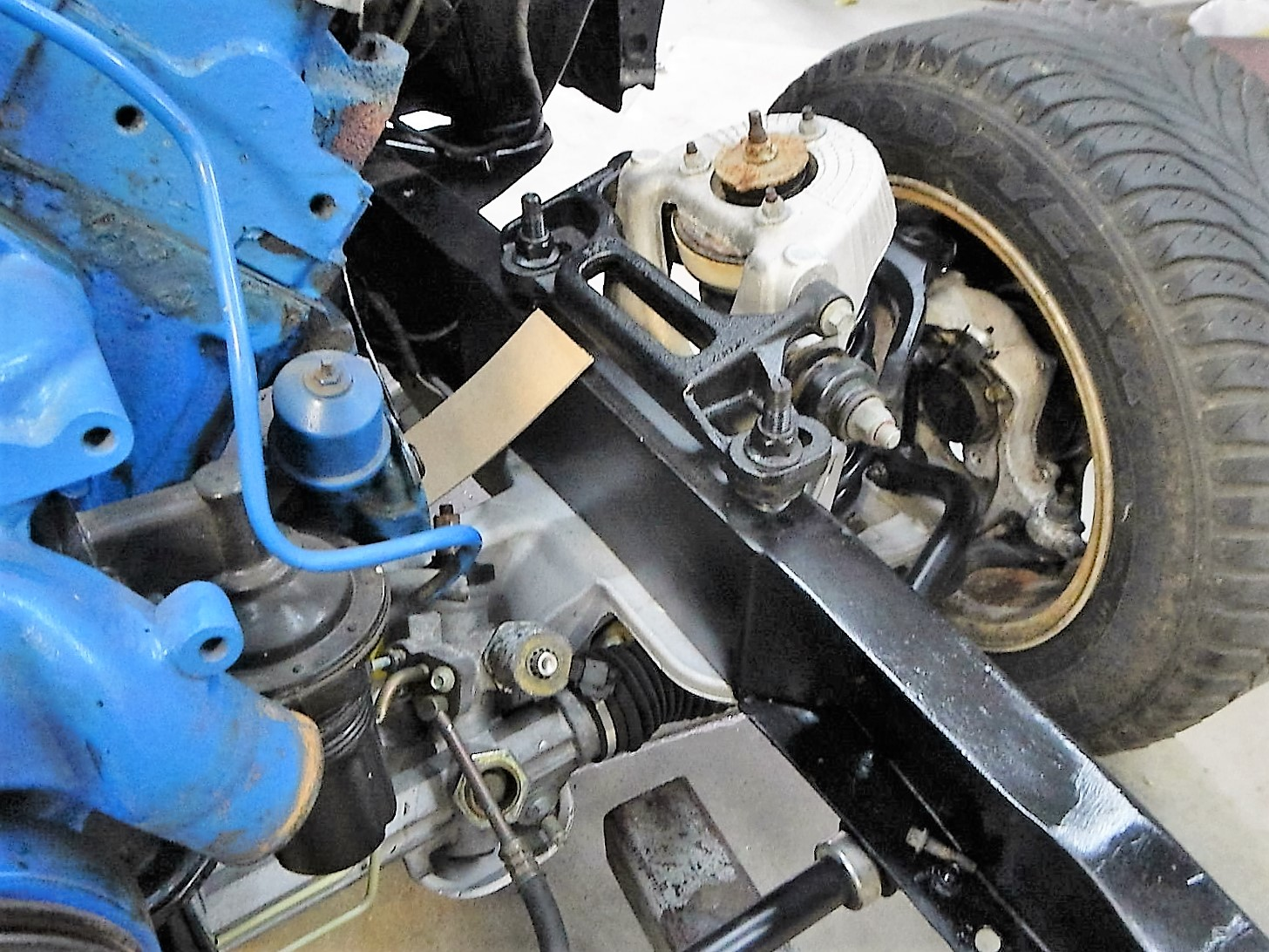 1968 Ford F-100 Front End Swap - Mercury Crown Vic  088.jpg