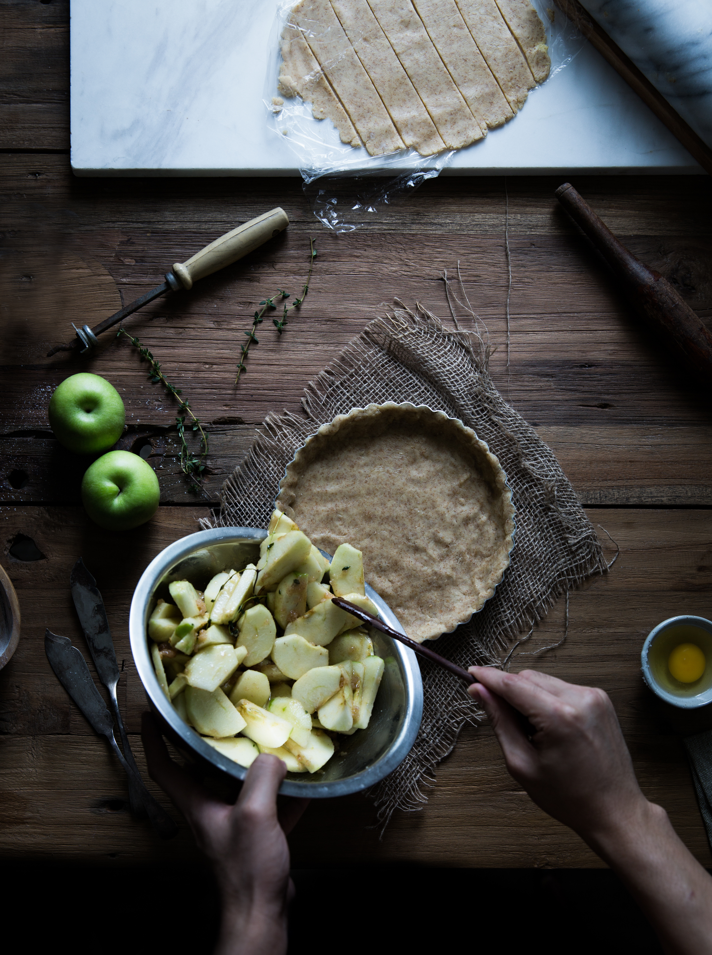Apple Pie w/ Thyme, Ginger & Lemongrass