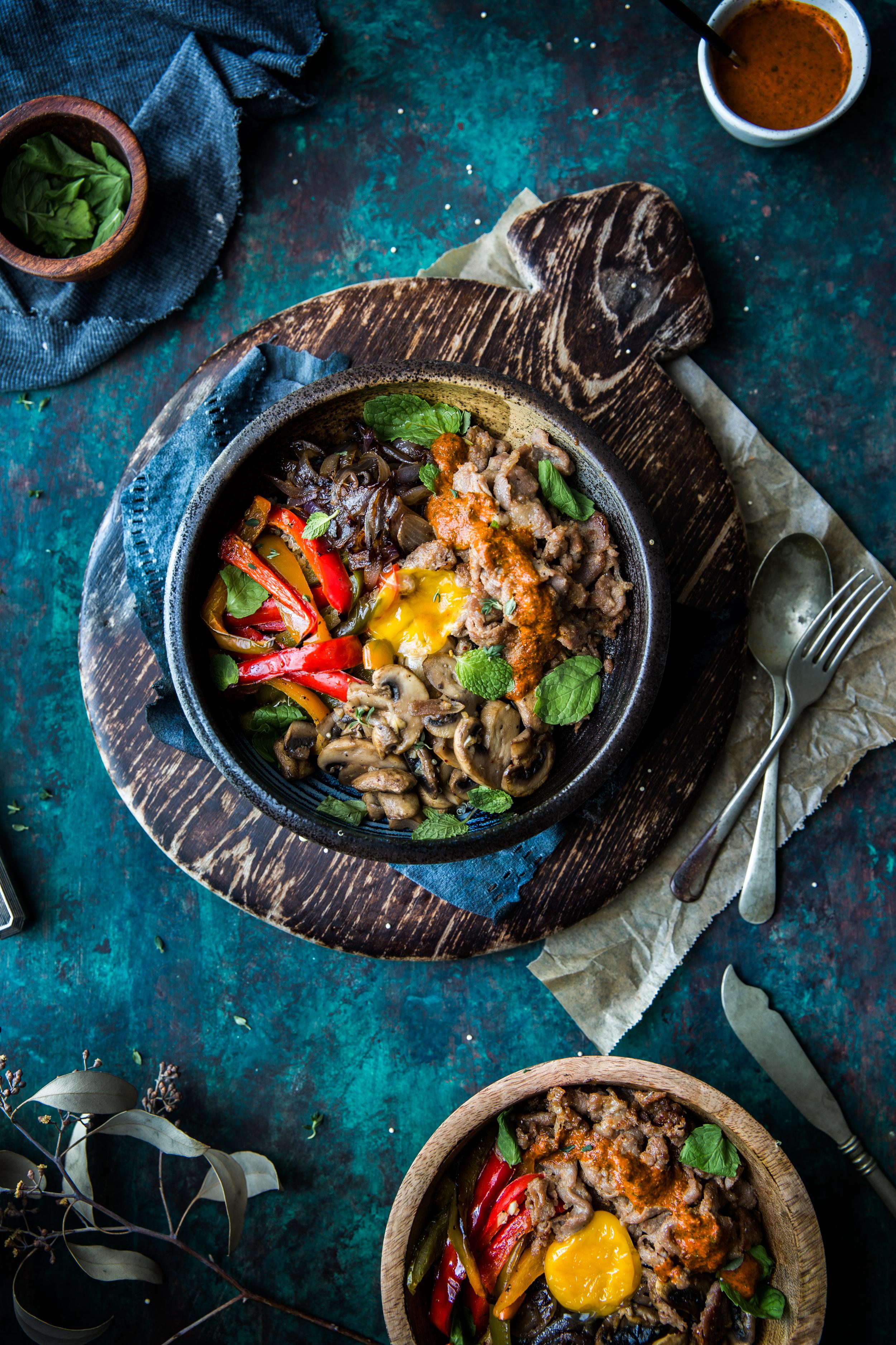Bulgogi & Quinoa Bowl w/ Minty Siracha Dressing