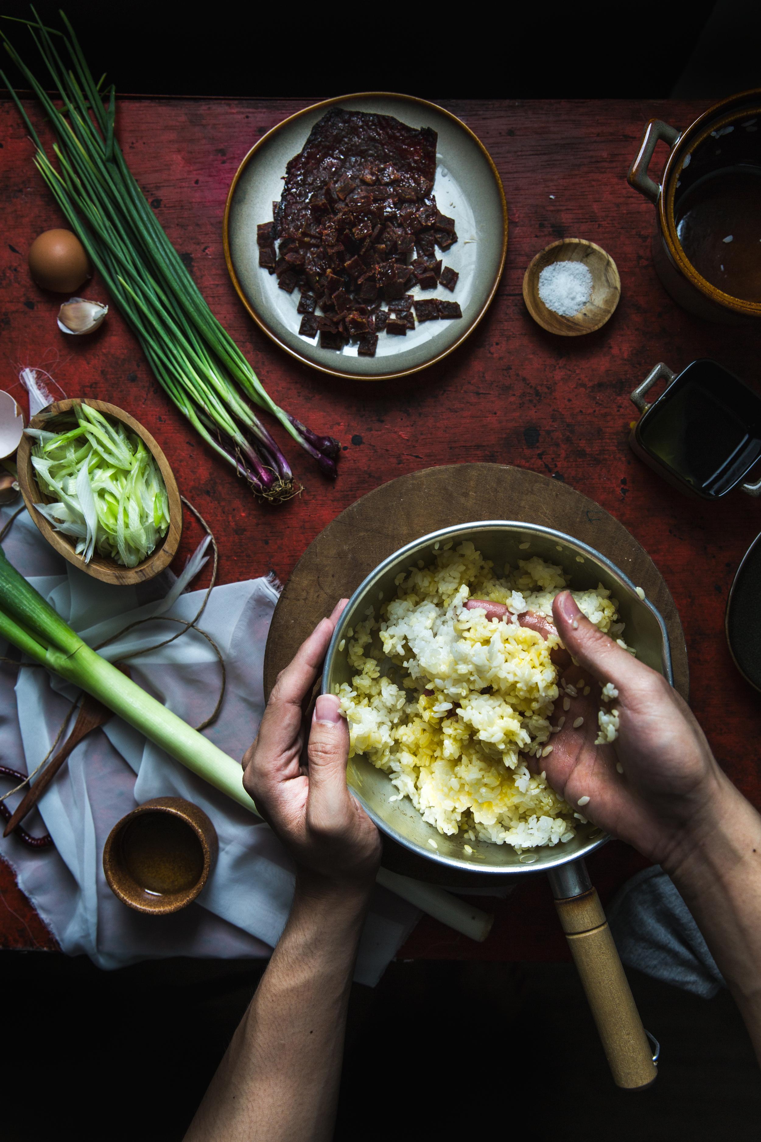 Bakkwa (Chinese Jerky) Fried Rice