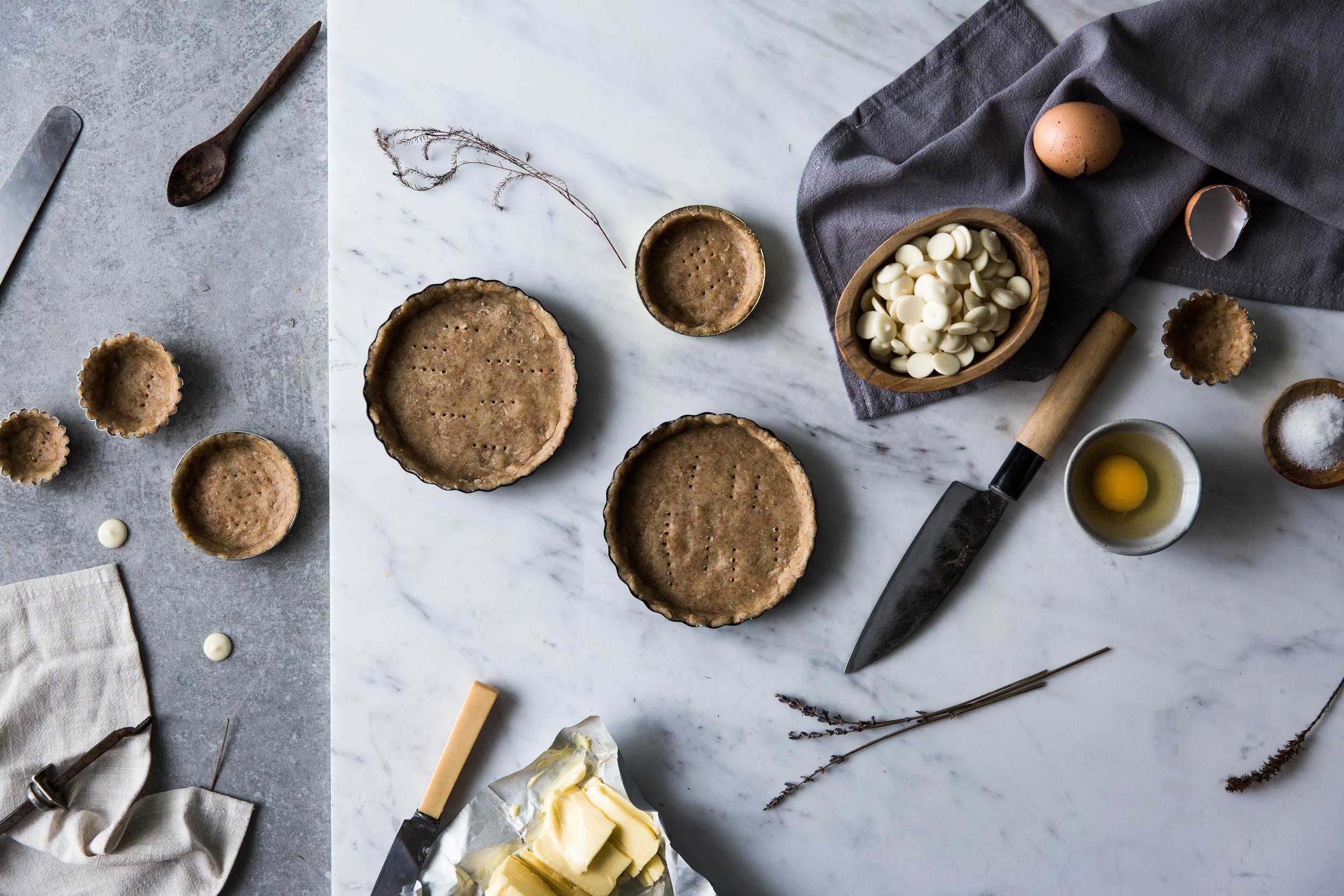 White Chocolate Macadamia Nut Cream Tart