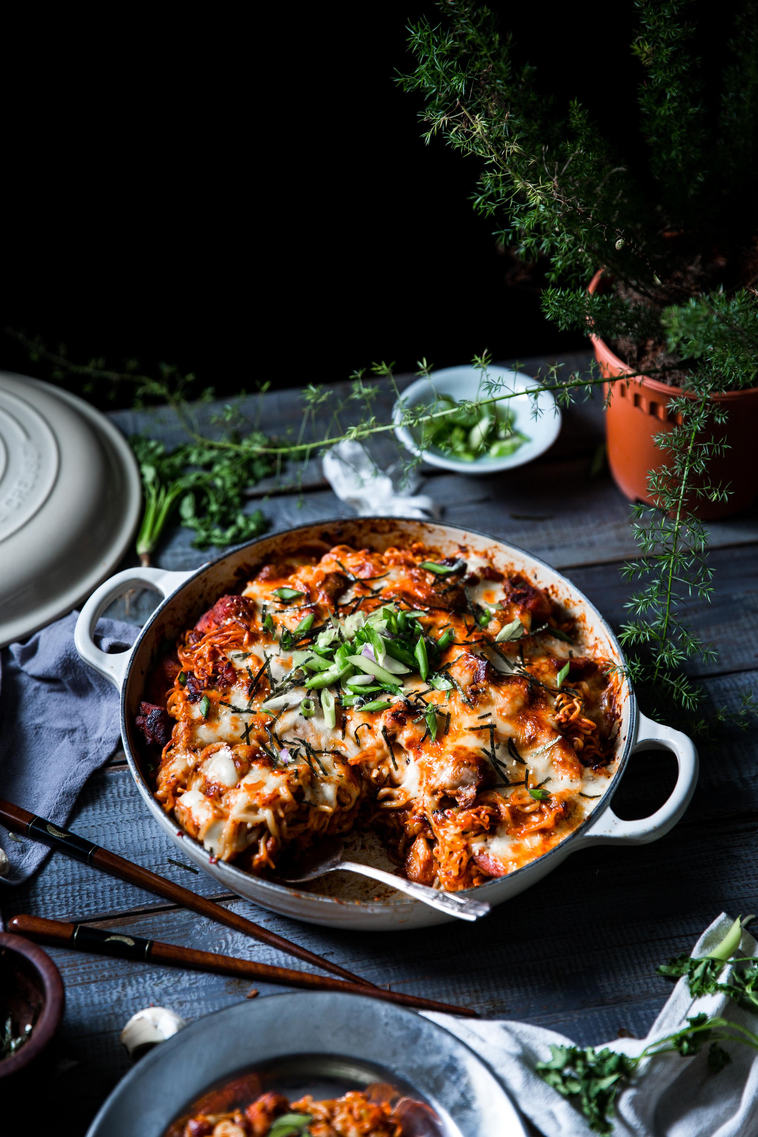 Fiery Korean Cheesy Chicken Ramen