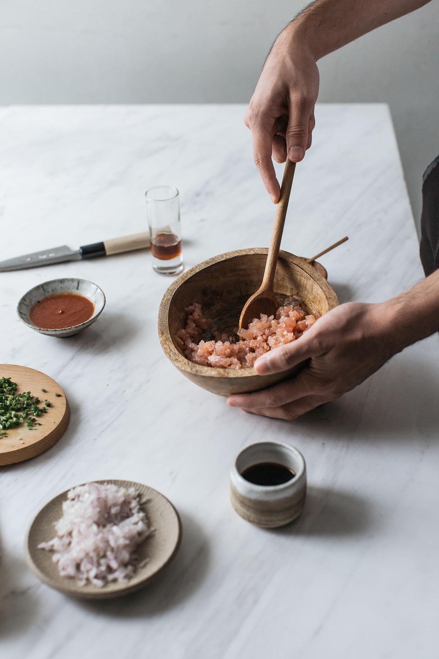 Spicy Tuna Poke Tartare California Roll