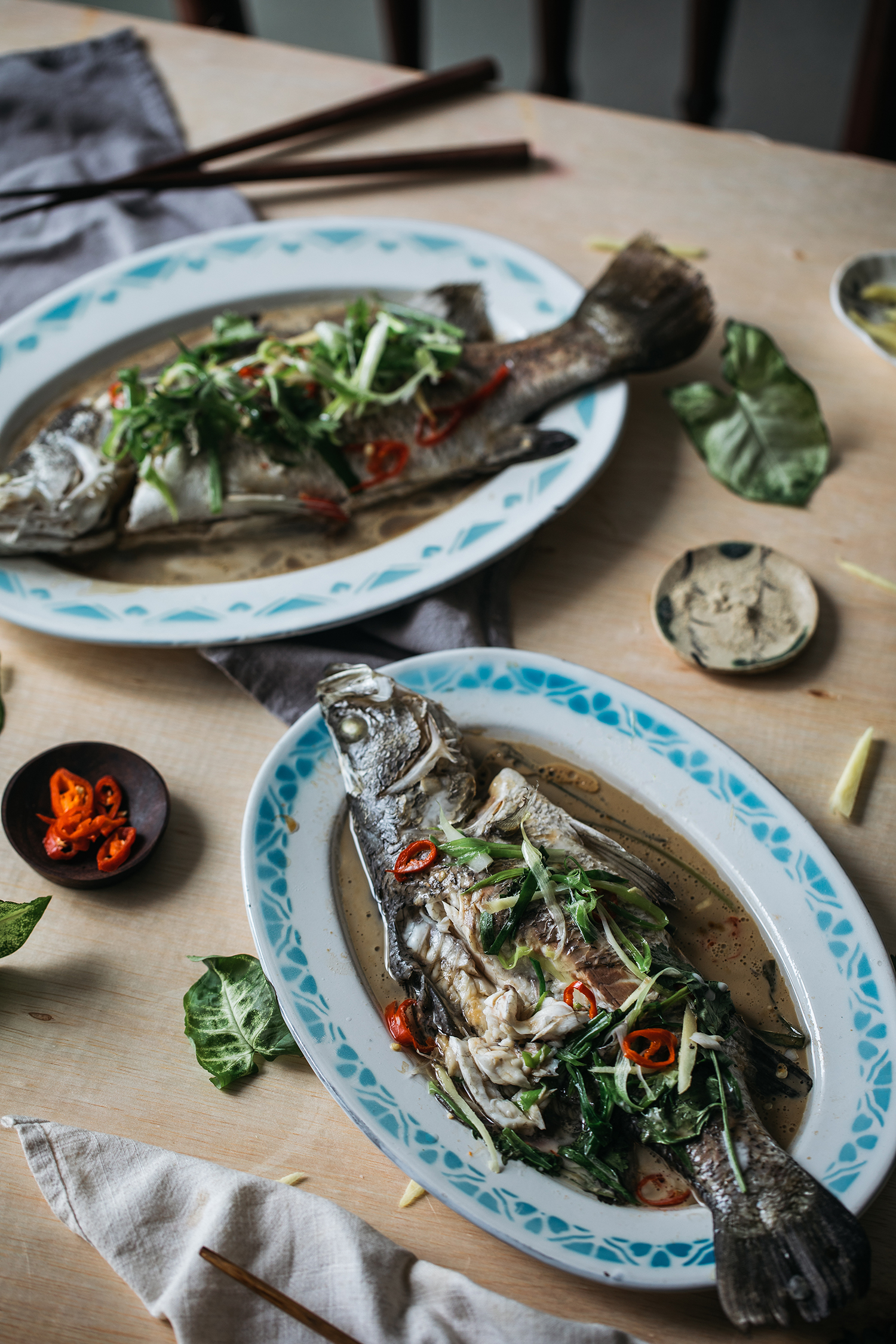 Steamed Coconut Fish in Asian Style