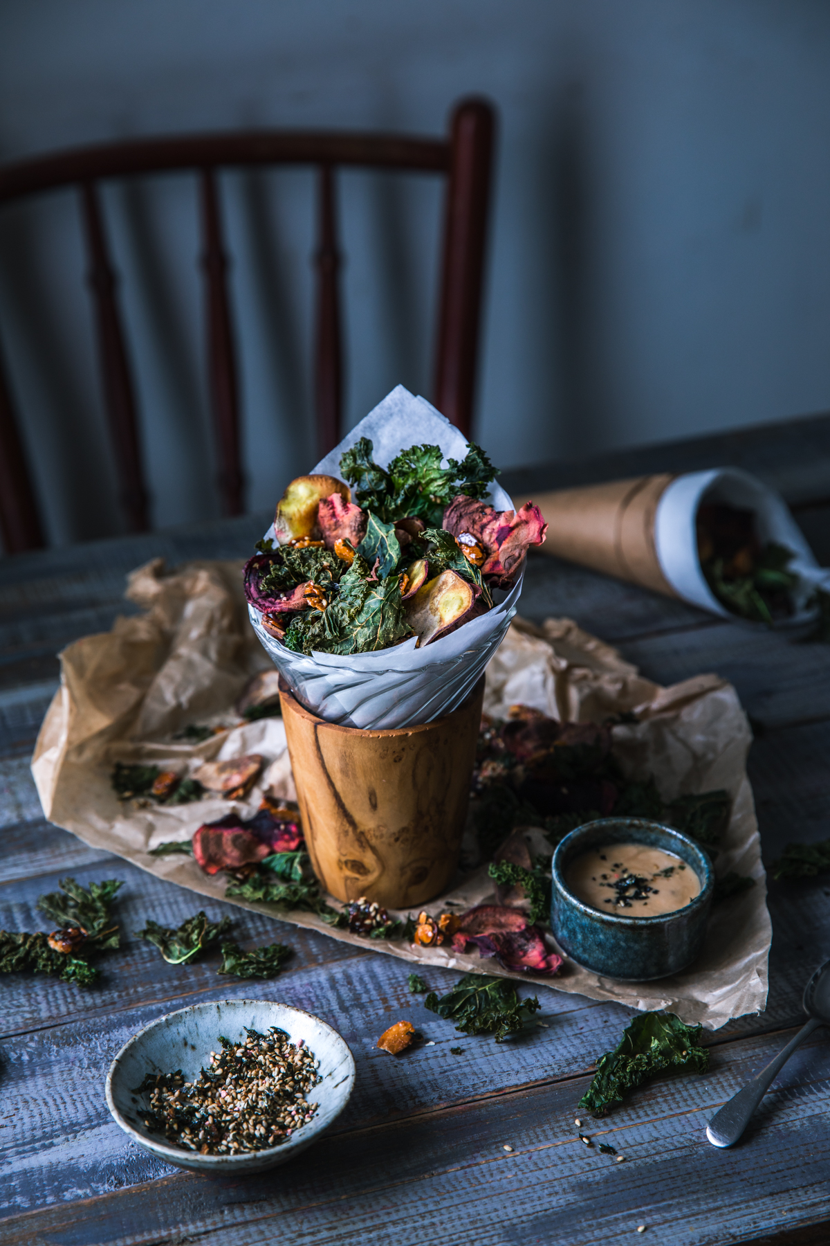 Kale & Roots Chips w/ Furikake