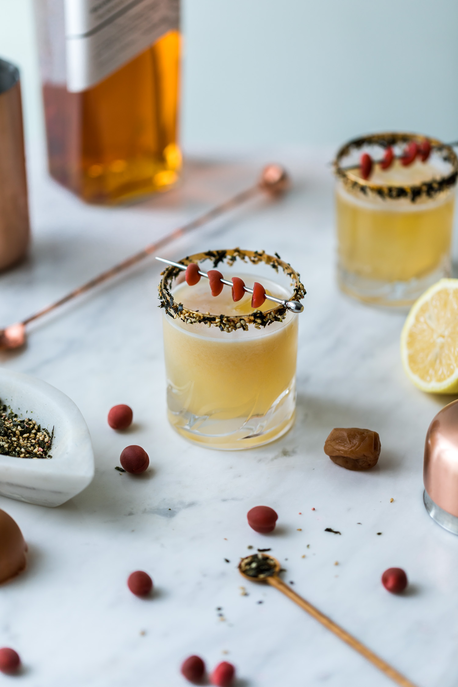Refreshing Whicky Cocktails to make at home - Ume Furikake
