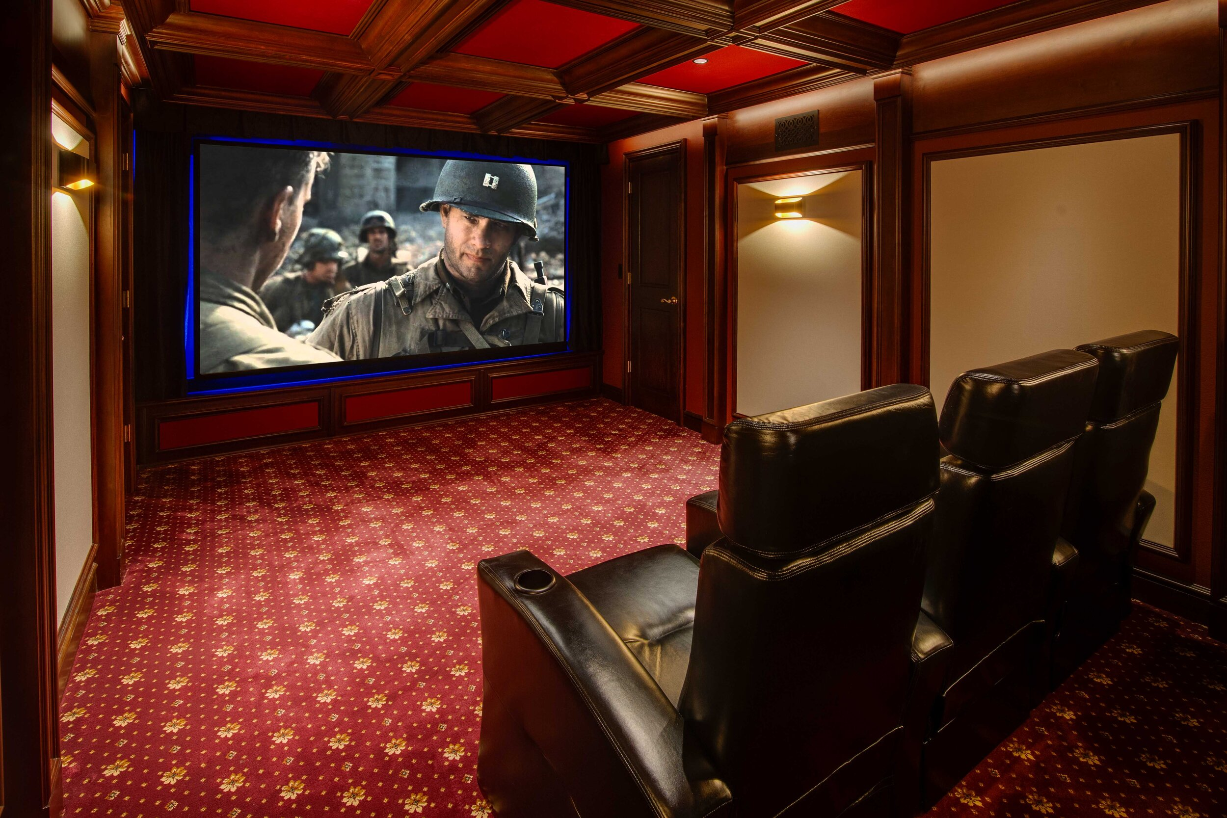 Home Movie Theater With Bar Home Theater Design Home Theater Rooms Home