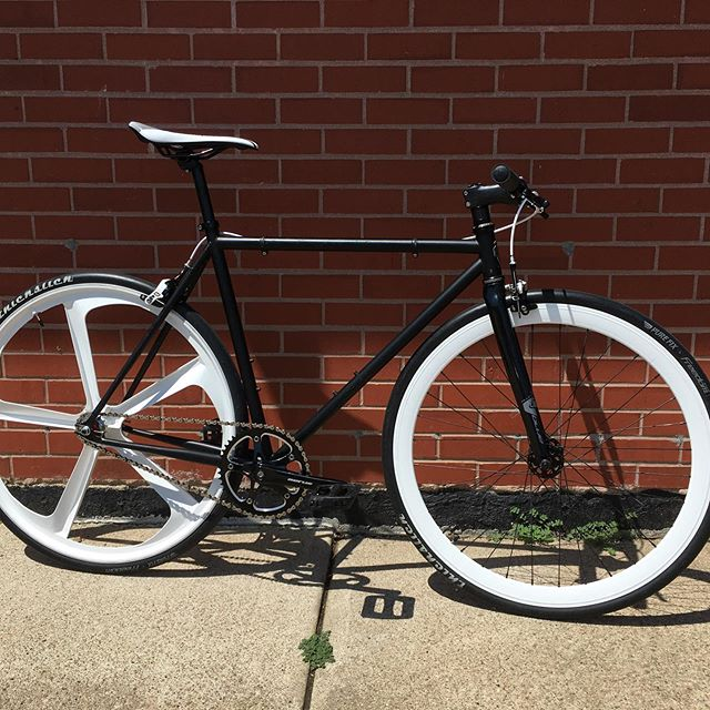 Custom single speed fixie, stop in for the details on this sweet bike.
