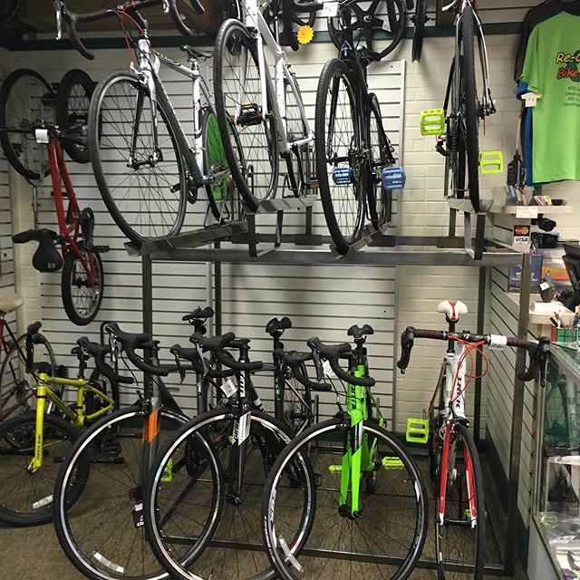 Looking for a great used road bike or cycle cross bike, Trek, Fuji, Felt, BMC, State bicycle co. and Giant. Stop in for details.