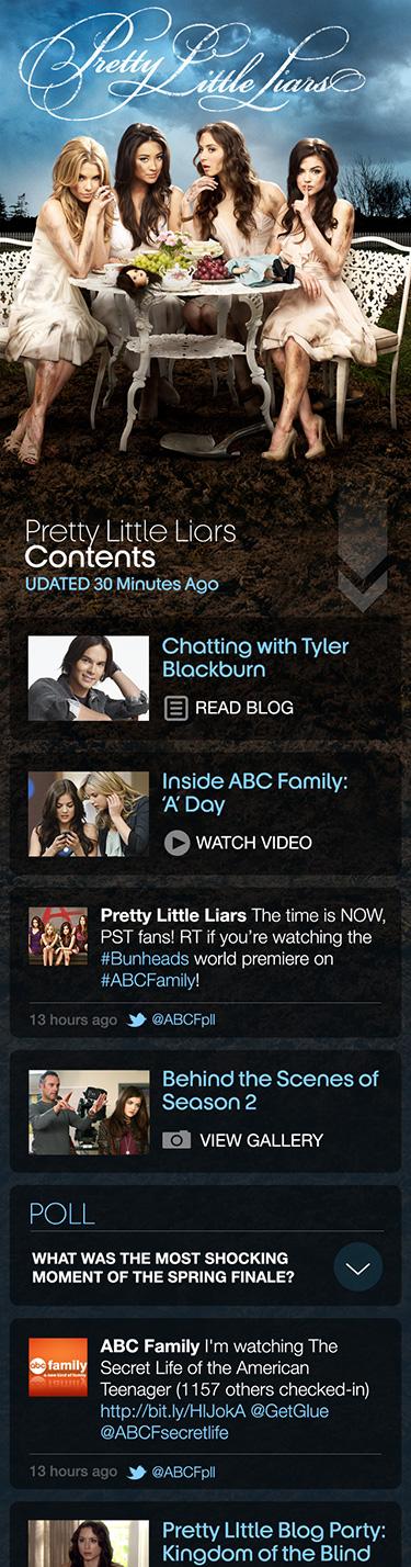ABC Family Fanzine concept - iPhone design