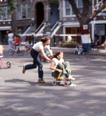 Fun on Brooklyn street