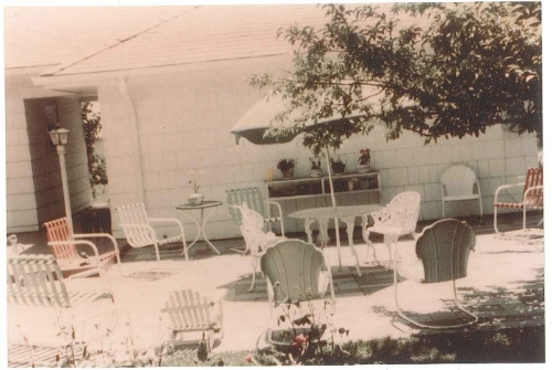 Our original meeting place was the patio of a charter member,