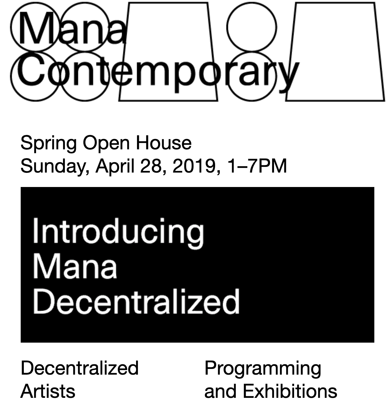 MANA DECENTRALIZED GROUP EXHIBITiON -