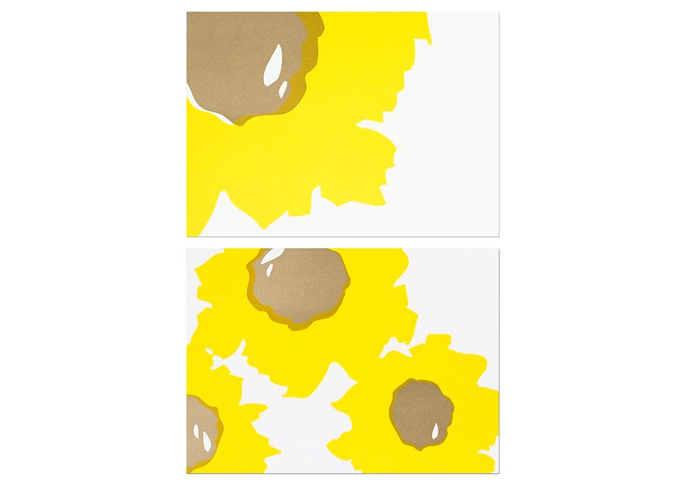 """Sunflowers"" Letterpress Card"
