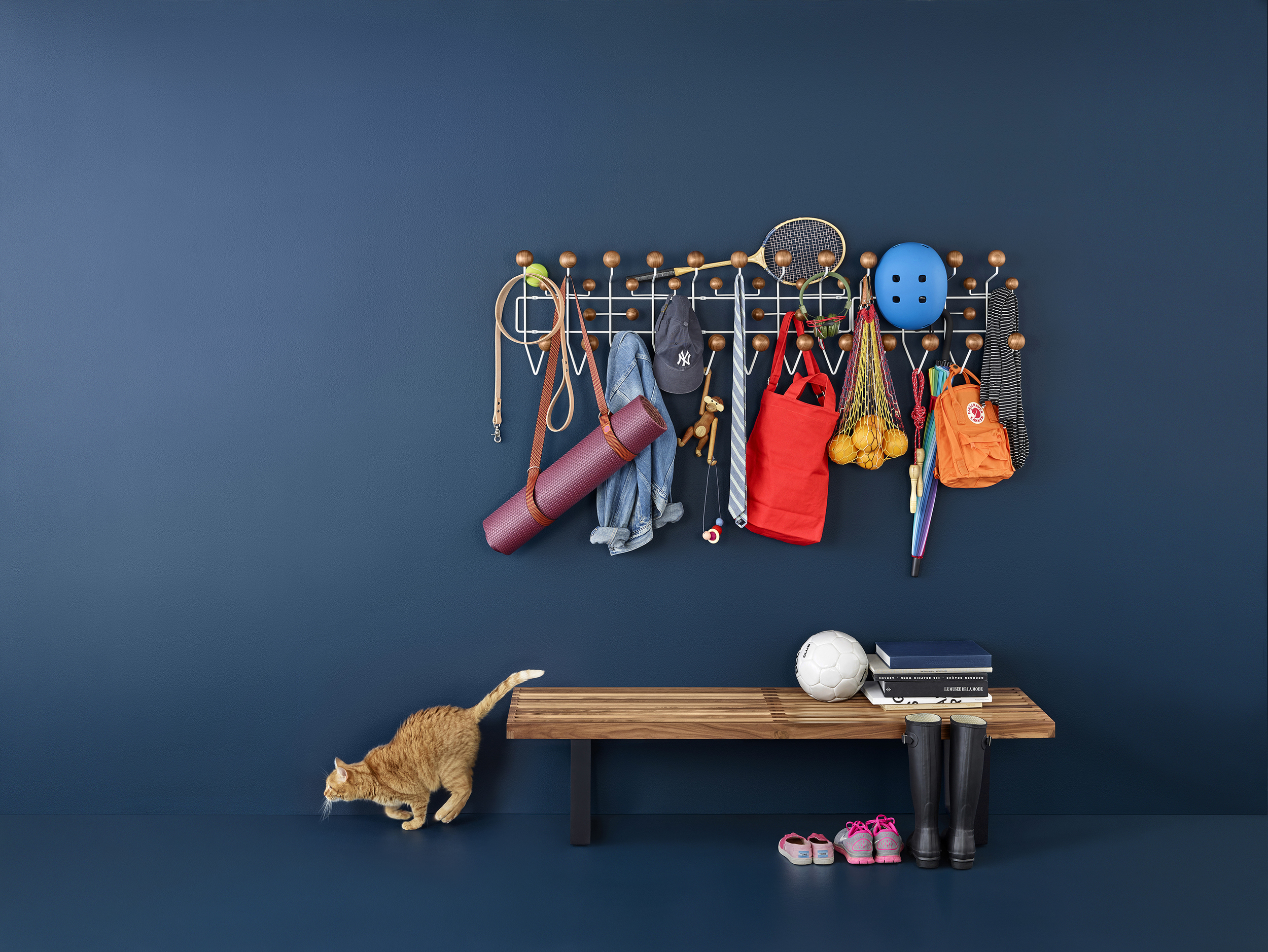 Iconic Designs in Walnut Campaign. cat: Lily