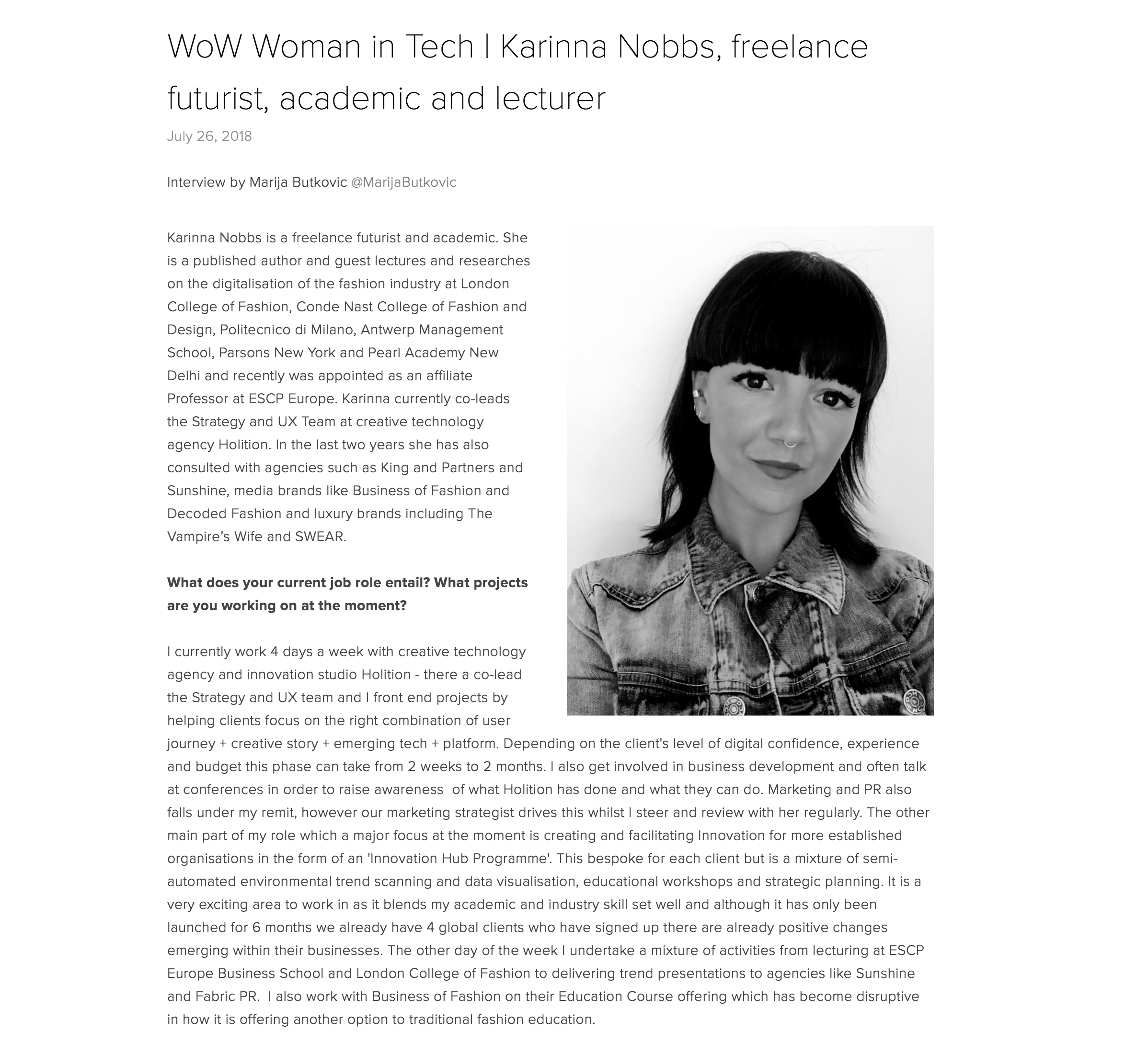 INTERVIEW: Women of Wearables