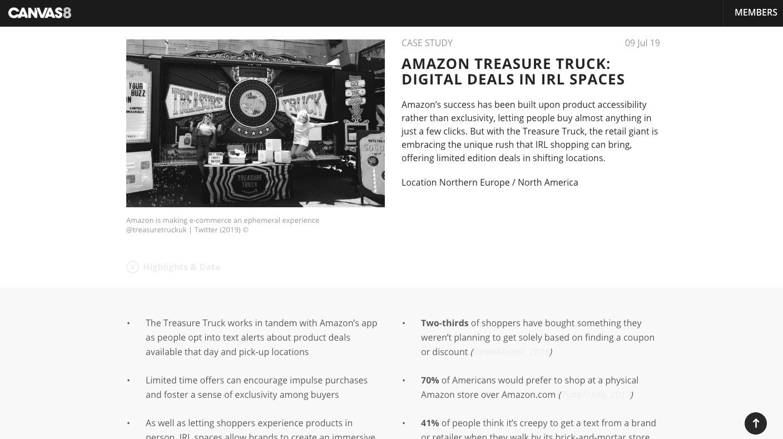 COMMENTARY : CANVAS 8 Amazon Treasure Truck Case Study