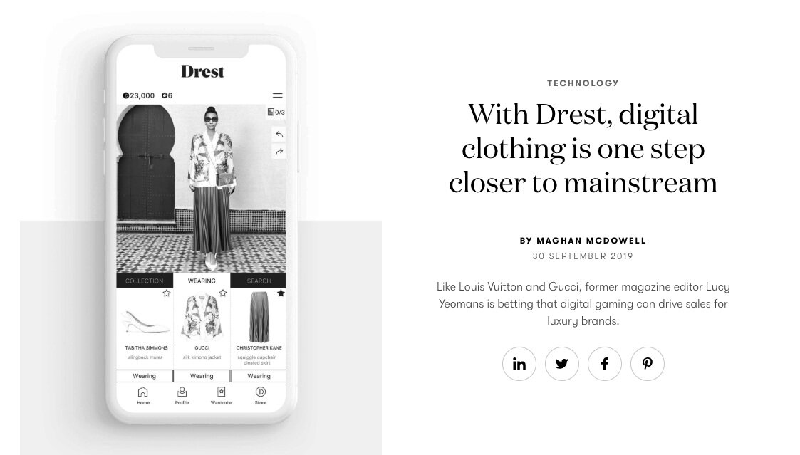 COMMENTARY - Digital Fashion for Vogue Business