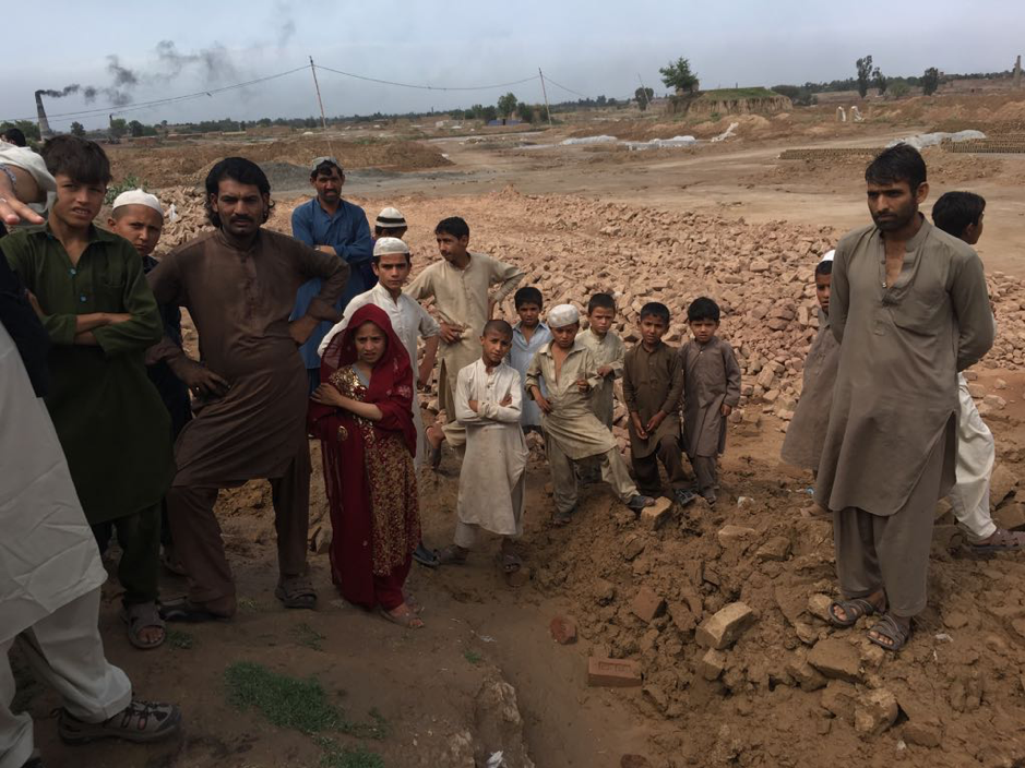 Study community in KPK showing brick kiln workers