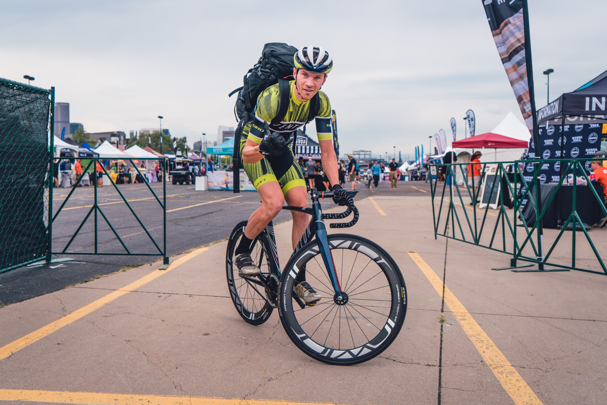 Colin Jaskiewcz poses pre-race