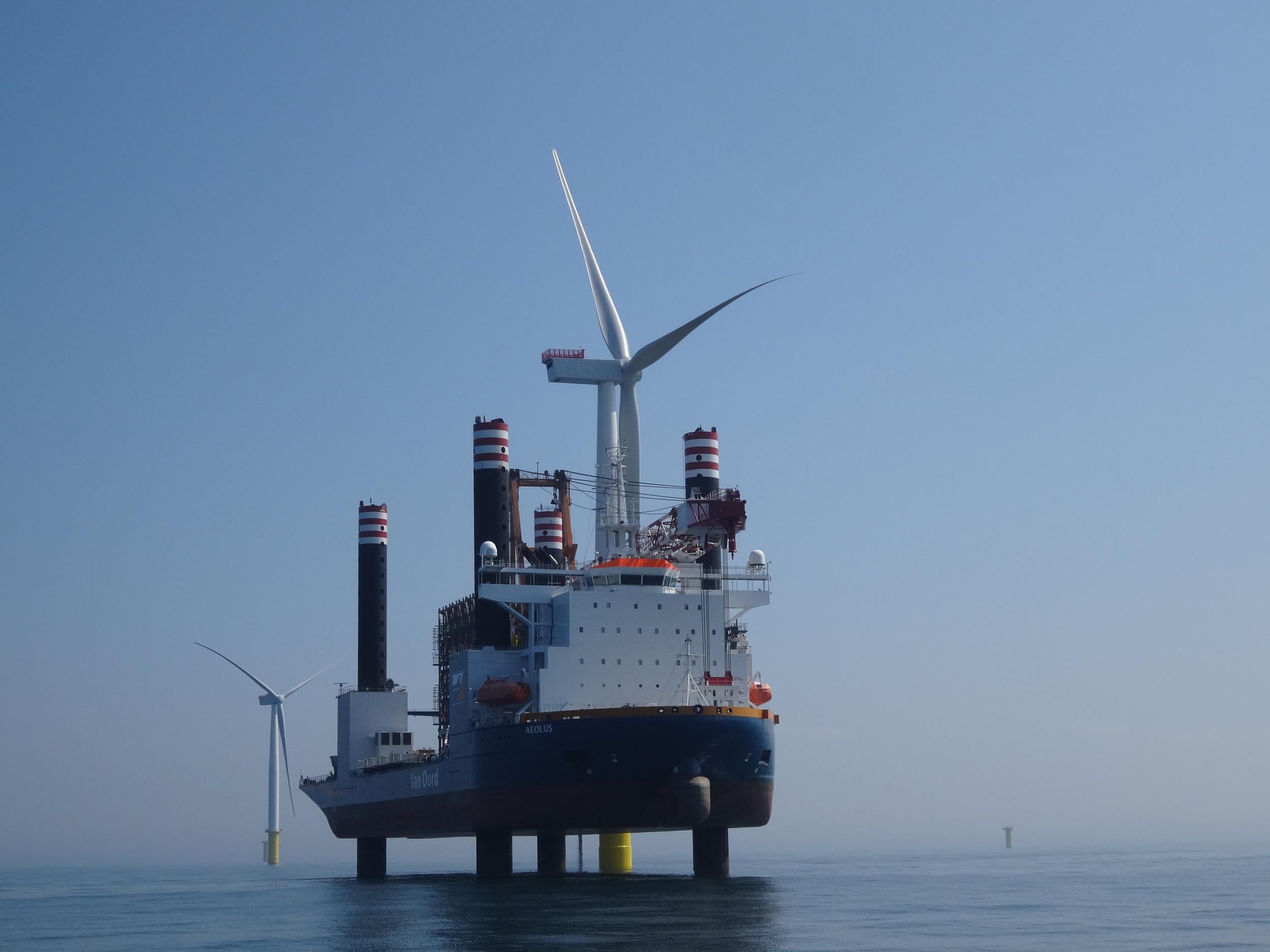 Windmolen installatie