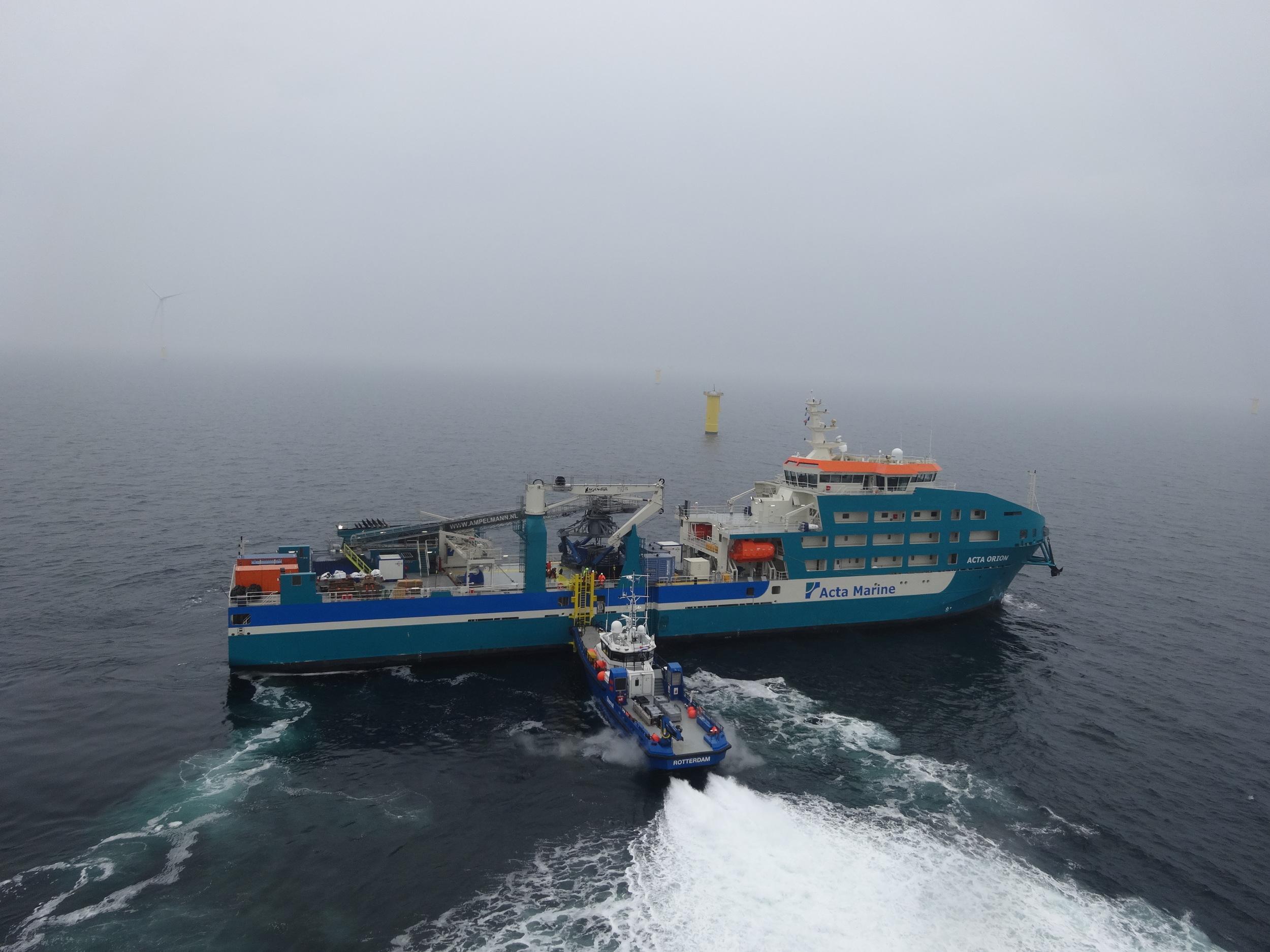 CTV tegen boatlanding Orion