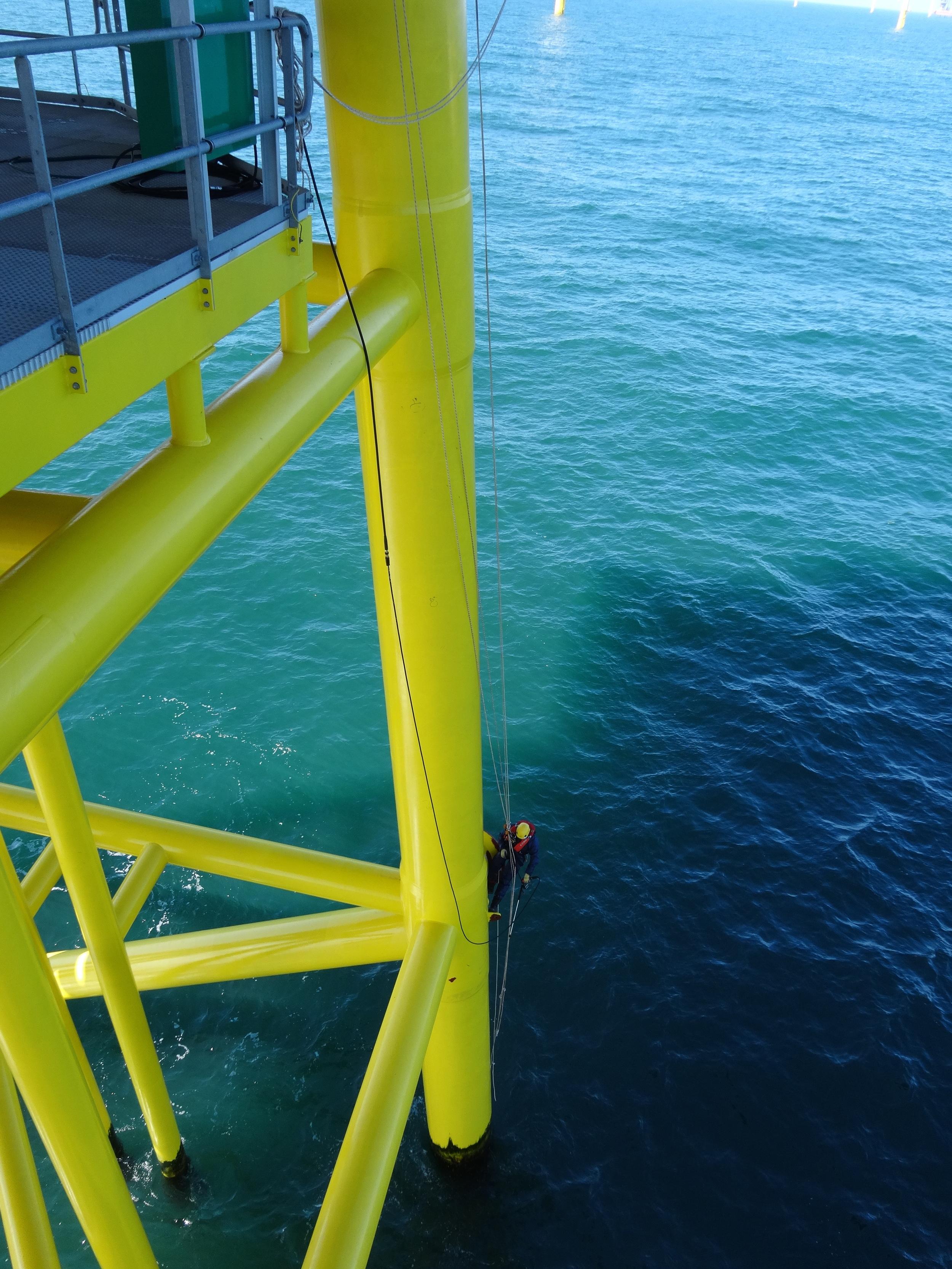 Rope acces werk op de OHVS