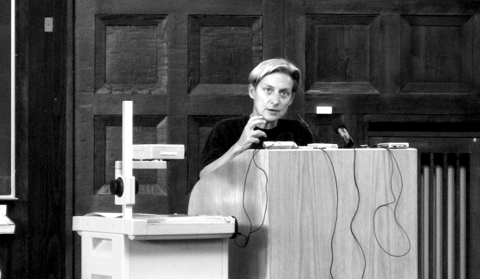 Judith Butler at a lecture at the University of Hamburg, April 2007.