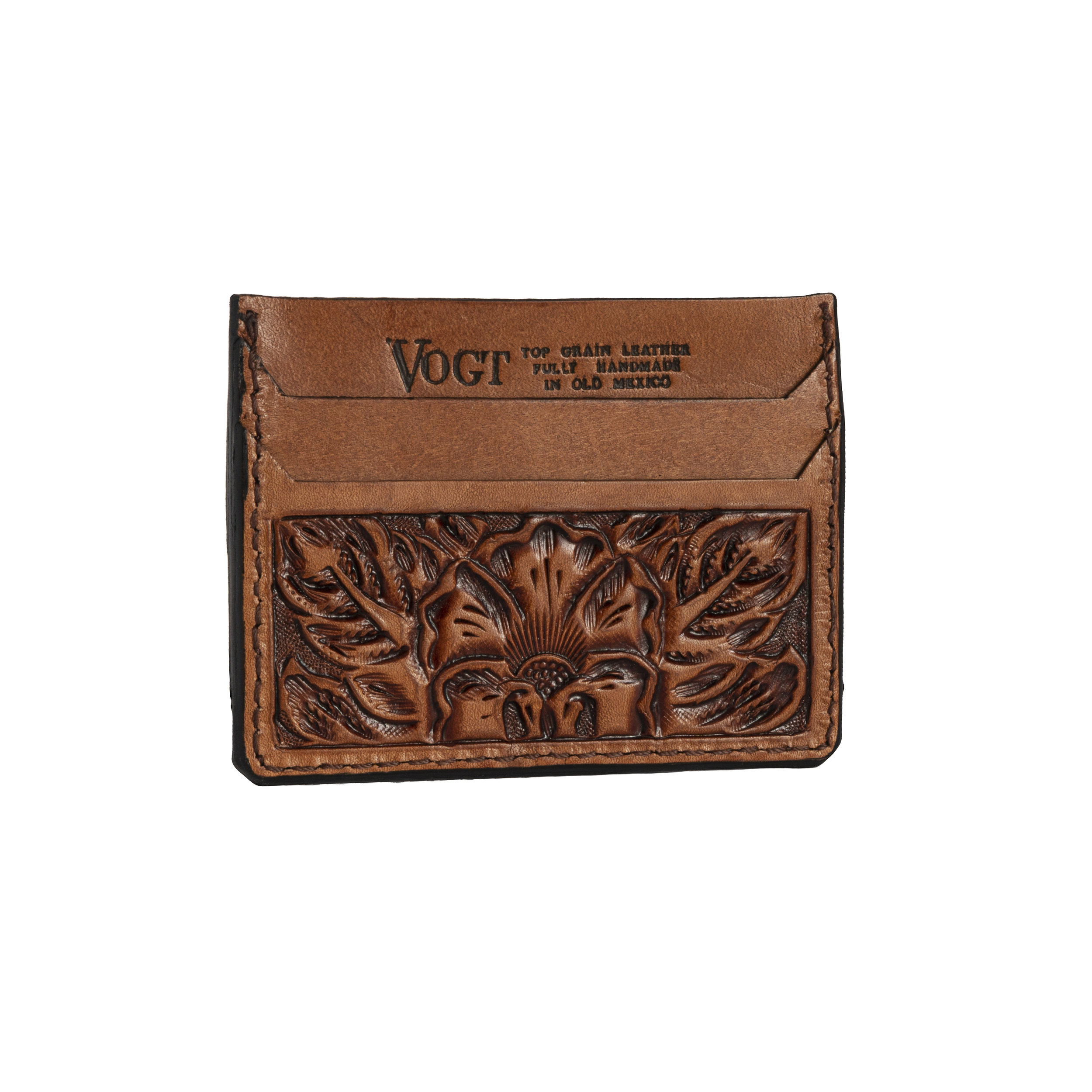 hand tooled front pocket wallet -