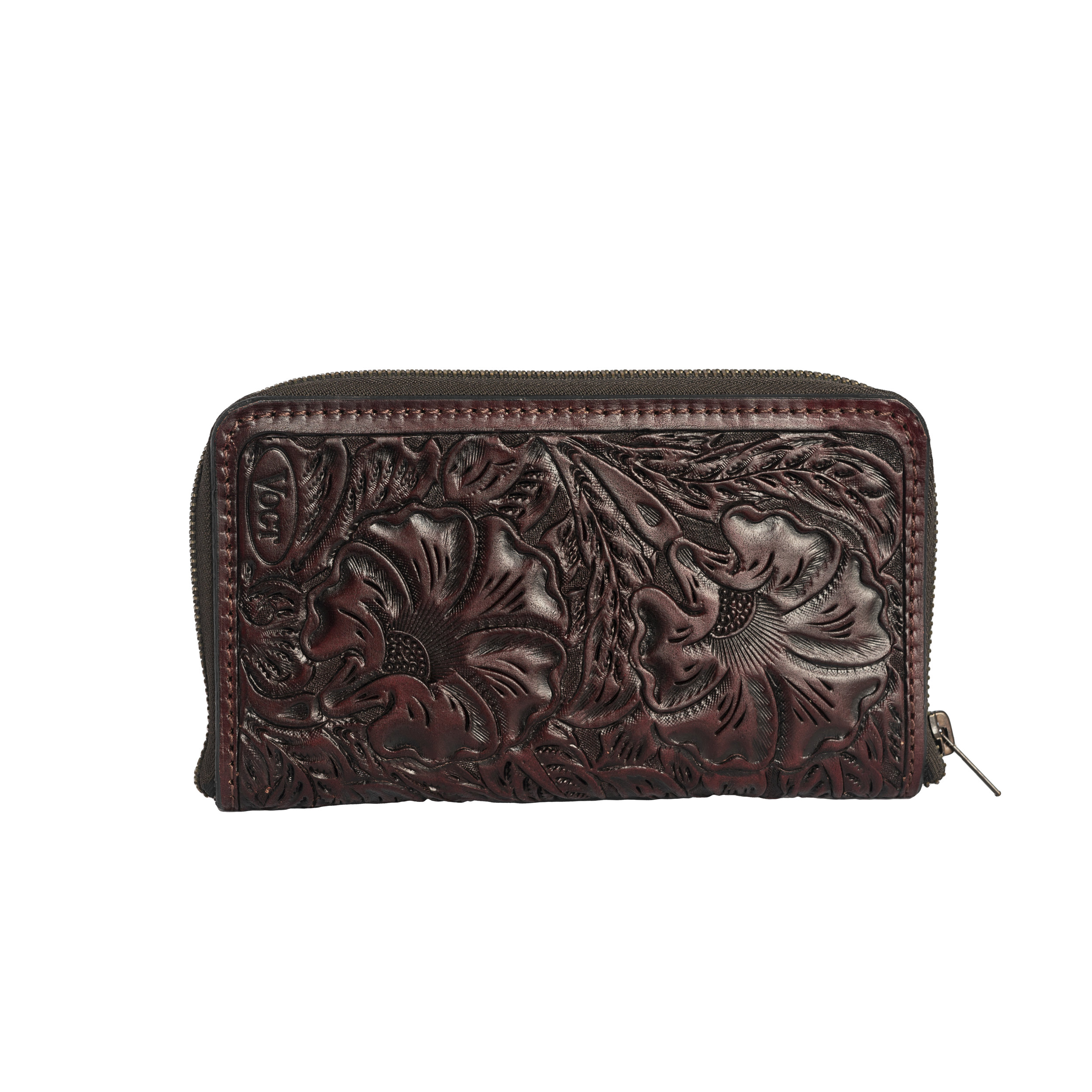 fully tooled merlot passport wallet -
