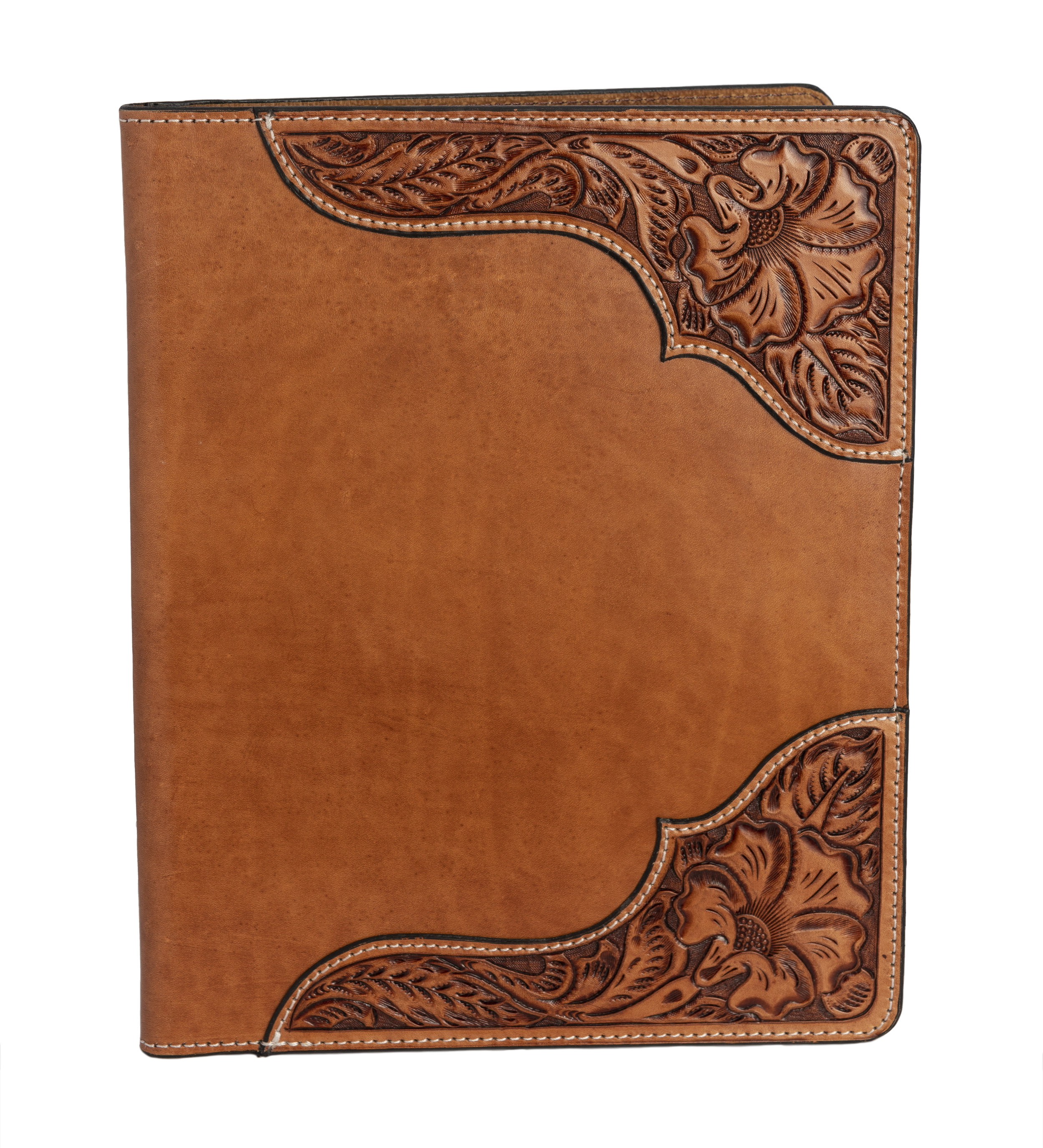 hand tooled russet heritage folio -