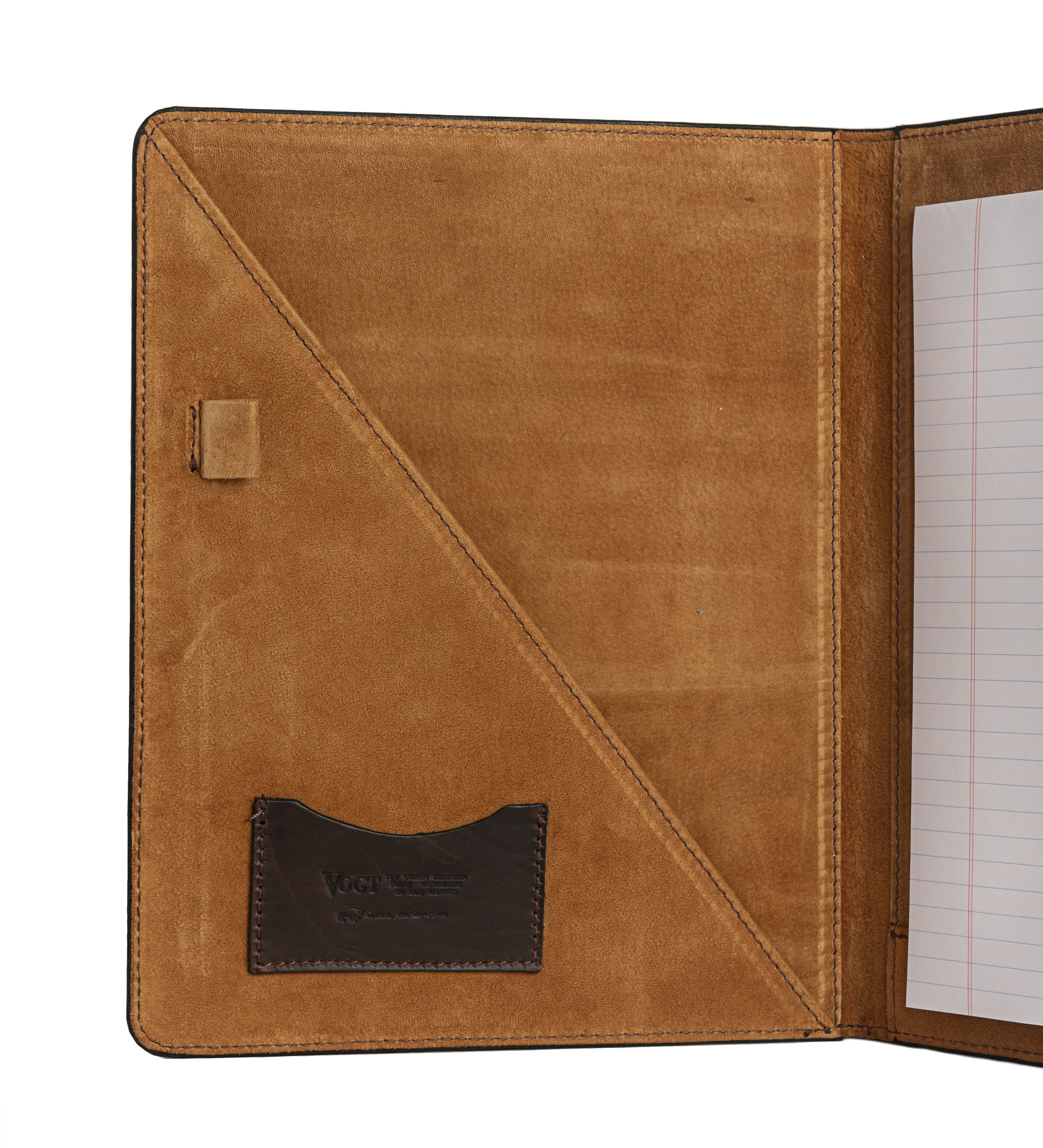 hand tooled russet heritage folio interior -