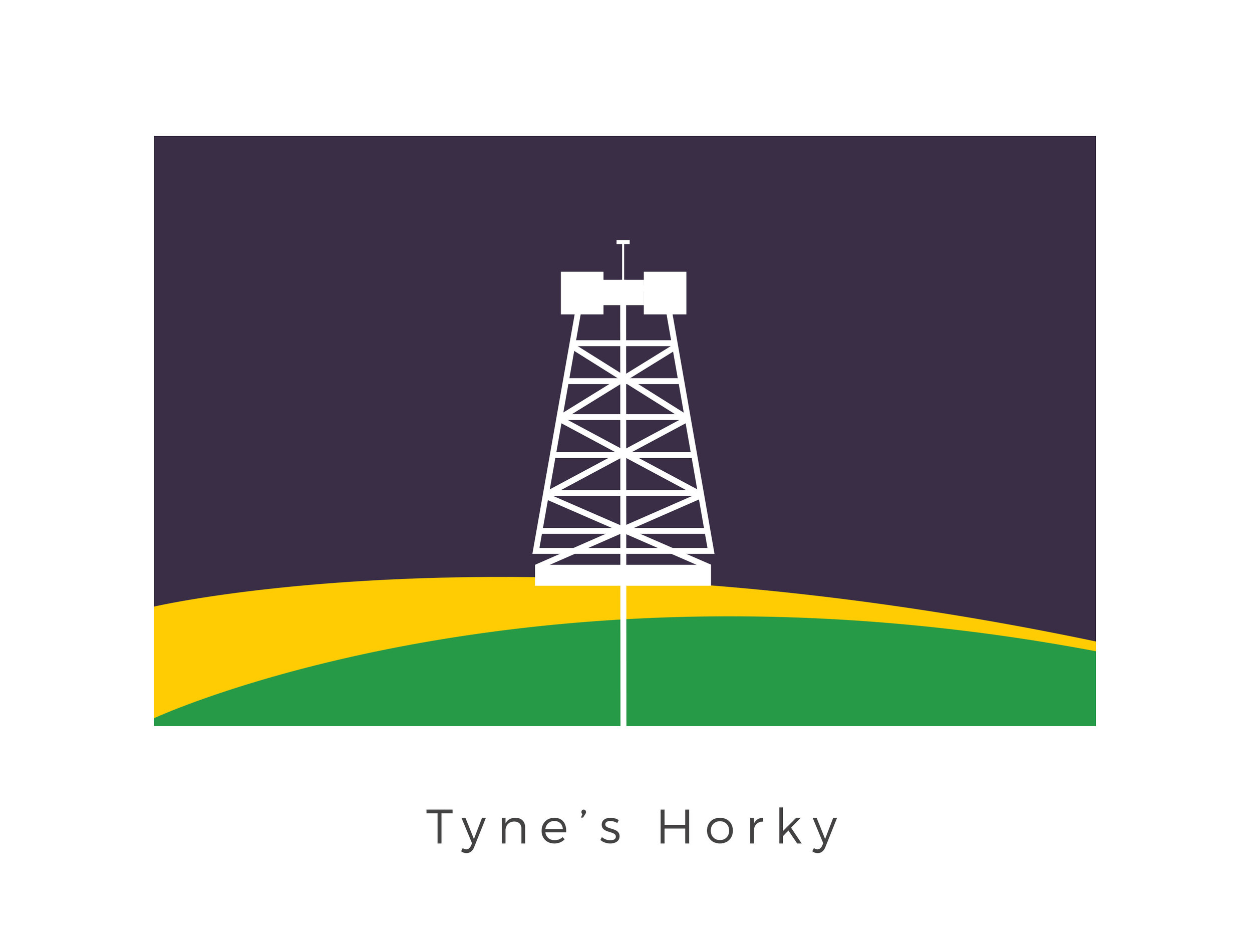 Tyne's Horky  was an ore-rich mining world in Teraab sector. Its streets were full of mining and service droids, used to mine Keschel and Nergon-14. The flag design simply evokes the key export of Tyne's Horky, the graphic being a mining tool while the colours used are that of the exported minerals: Kestrel and Nergon-14.